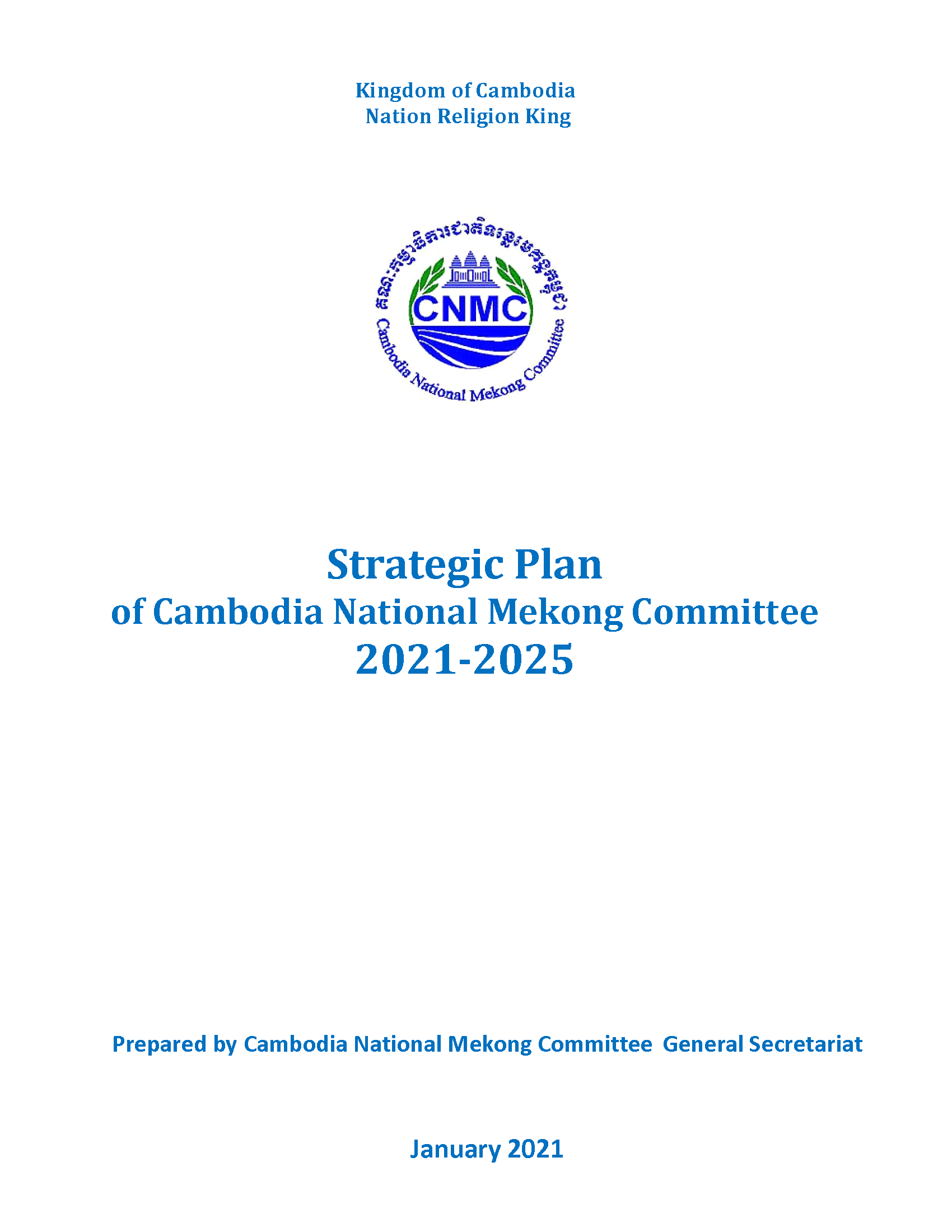 Strategic Plan of Cambodia National Committee 2021-2025